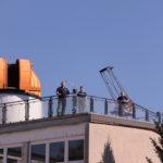 """Die Kuppel auf dem ehemaligen Schulgebäude in Riesa mit dem """"riesen"""" Dobson"""